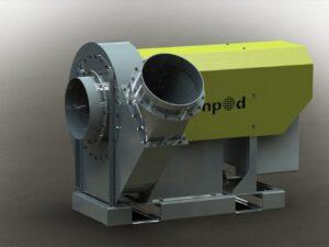 Aspirateur plastique électrique 30kw pour aspirer les déchets légers et les évacuer grâce à ses tuyaux de canalisation des flux - Machine à louer chez Nova Location dans les départements des Alpes-de-Haute-Provence, Hautes-Alpes, Alpes-Maritimes, Bouches du Rhône, Var, Vaucluse